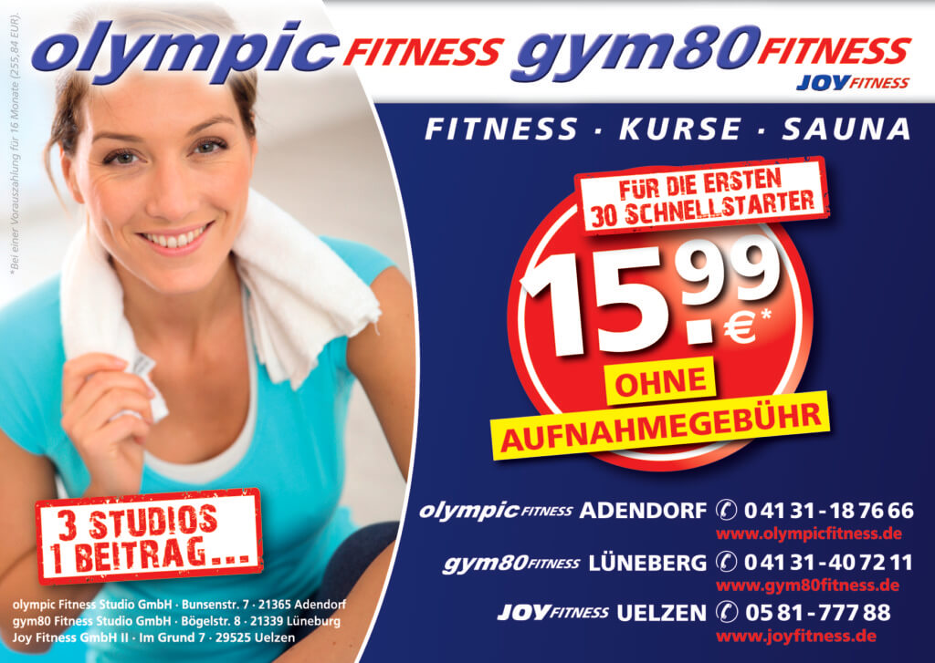 olympic fitness flyer